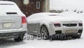 Porsche Cayenne S und Lamborghini Gallardo
