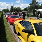 Reihe von Lamborghinis